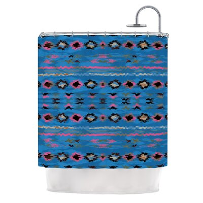 Navano by Nina May Tribal Shower Curtain Color: Blue