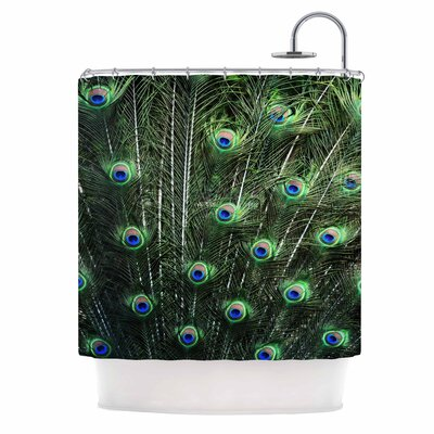 Glory by Robin Dickinson Peacock Shower Curtain