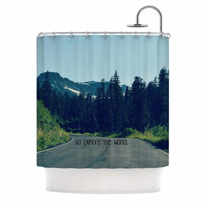 Go Explore the World by Robin Dickinson Shower Curtain