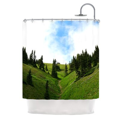 Going to the Mountains by Robin Dickinson Shower Curtain