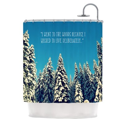 I Went to the Woods by Robin Dickinson Shower Curtain