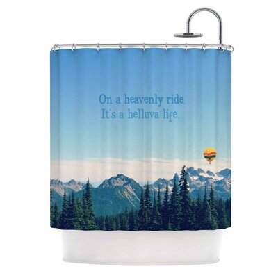 Its A Helluva Life by Robin Dickinson Mountain Shower Curtain