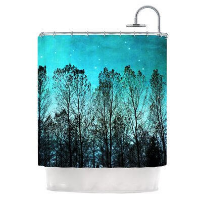 Dark Forest by Sylvia Cook Trees Shower Curtain