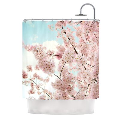 Spring Beauty by Sylvia Cook Coastal Typography Shower Curtain