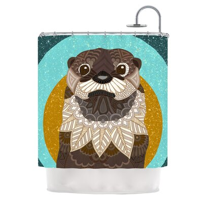 Otter in Water by Art Love Passion Shower Curtain