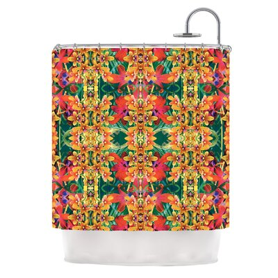 Tropical Floral by Dawid Roc Shower Curtain