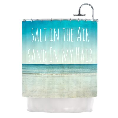 Salt in the Air by Debbra Obertanec Ocean Typography Shower Curtain