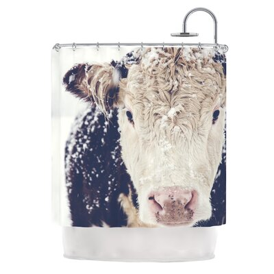 Snowy Cow by Debbra Obertanec Shower Curtain