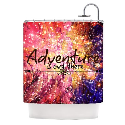 Adventure is Out There by Ebi Emporium Typography Shower Curtain