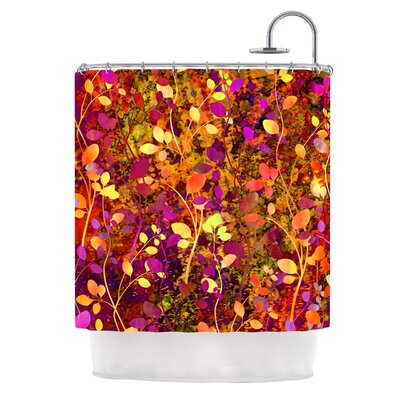 Amongst the Flowers Warm Sunset by Ebi Emporium Shower Curtain