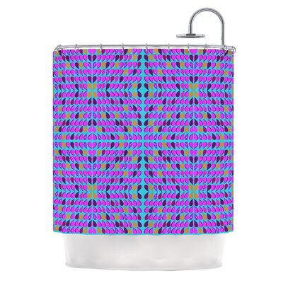 Optical Paisley by Fernanda Sternieri Shower Curtain