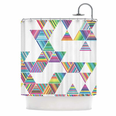 Rainbow Rain by Fimbis Shower Curtain