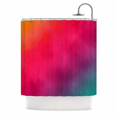 Rainbow Loon by Fotios Pavlopoulos Abstract Shower Curtain