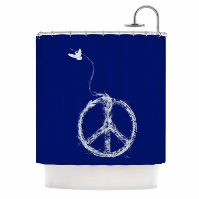 Bird Sewing Peace by Frederic Levy-Hadida Shower Curtain