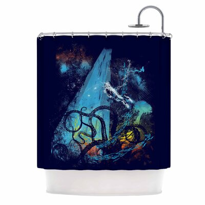 Danger from the Deep by Frederic Levy-Hadida Underwater Shower Curtain