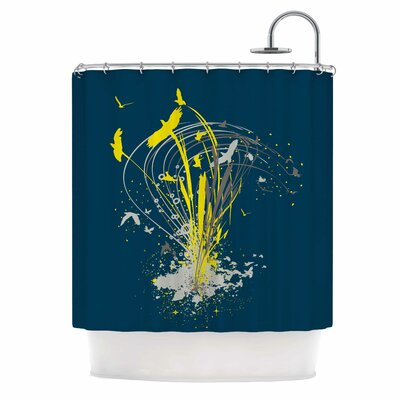 Migratory by Frederic Levy-Hadida Shower Curtain