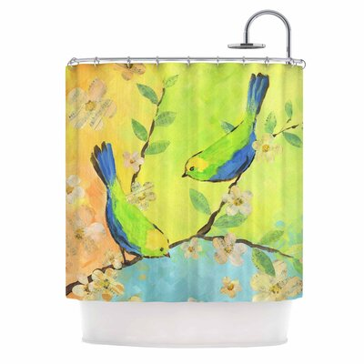 Song Birds by Jacqueline Milton Shower Curtain