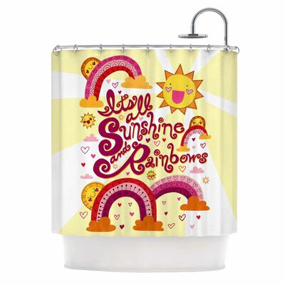 Its All Sunshine & Rainbows by Jane Smith Kids Shower Curtain