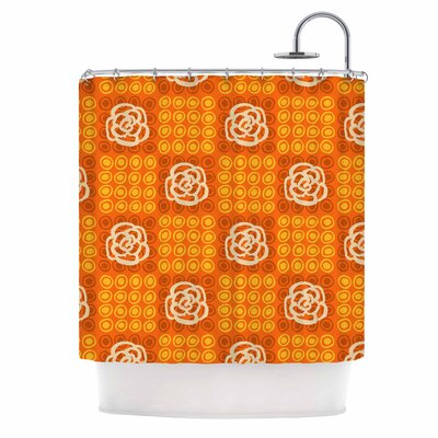 Polka Dot Rose by Jane Smith Shower Curtain