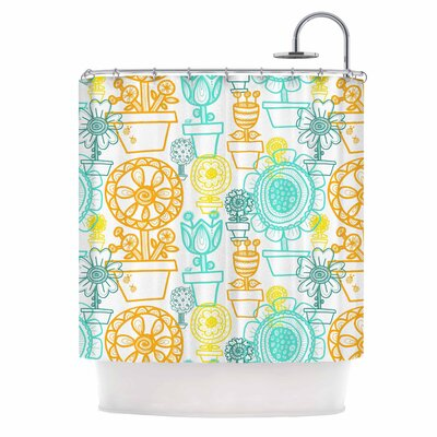 Potted Florals by Jane Smith Shower Curtain