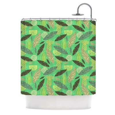 Tropical Fruits by Jane Smith Shower Curtain