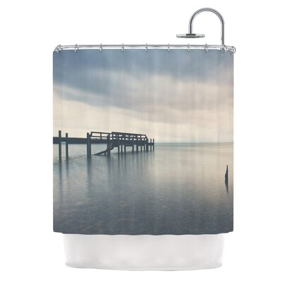 Waiting for the Storm to Pass by Laura Evans Shower Curtain