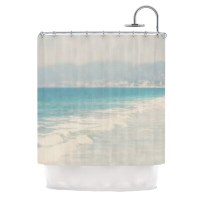 Waves by Laura Evans Shower Curtain