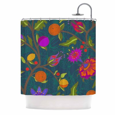 Flora Exotica by Laura Nicholson Floral Shower Curtain
