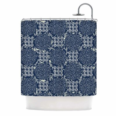 Indigo Lattice by Laura Nicholson Shower Curtain