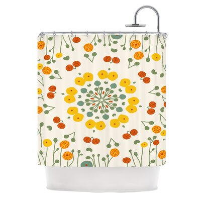 Ranunculas by Laura Nicholson Floral Shower Curtain