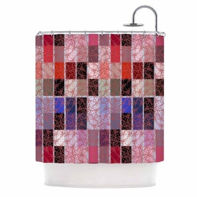 Ruby Tiles by Laura Nicholson Shower Curtain