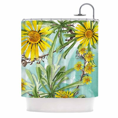 Sunny Day by Liz Perez Floral Shower Curtain