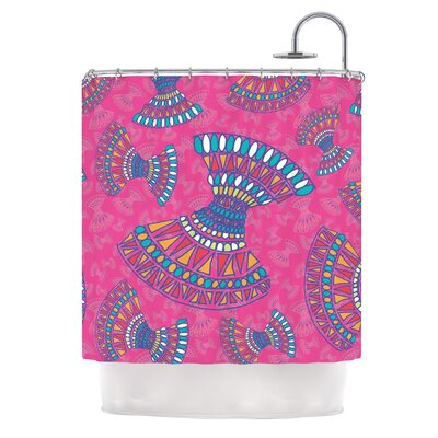 Tribal Fun by Miranda Mol Abstract Shower Curtain