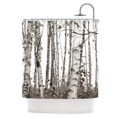 Birchwood by Monika Strigel Forest Shower Curtain