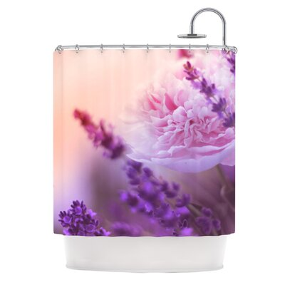 Peony and Lavender by Monika Strigel Shower Curtain