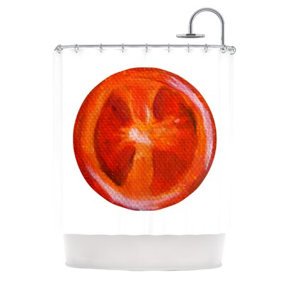 Tomatoes by Theresa Giolzetti Shower Curtain