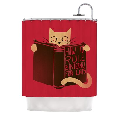 How to Rule the Internet For Cats by Tobe Fonseca Typography Shower Curtain