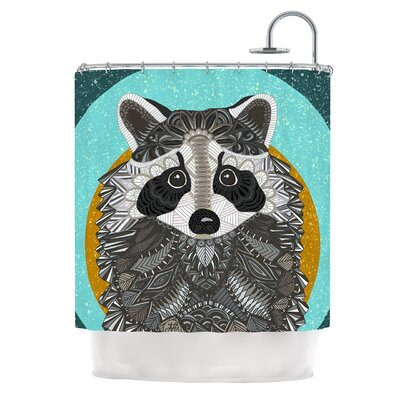Racoon in Grass by Art Love Passion Shower Curtain