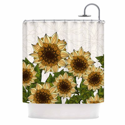 Sunflower Field by Art Love Passion Shower Curtain
