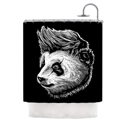Funky Panda by BarmalisiRTB Shower Curtain