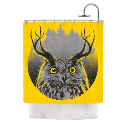 Majesty by BarmalisiRTB Owl Shower Curtain