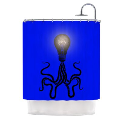 Octopus Bulb by BarmalisiRTB Tentacles Shower Curtain