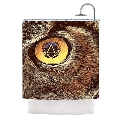 Sharp Eye by BarmalisiRTB Owl Shower Curtain
