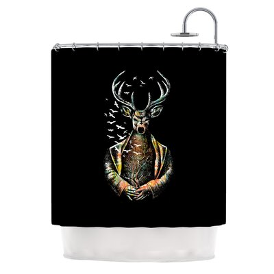 There Is No Place by BarmalisiRTB Deer Shower Curtain