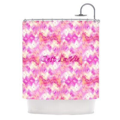 Cest La Vie by Ebi Emporium Typography Shower Curtain