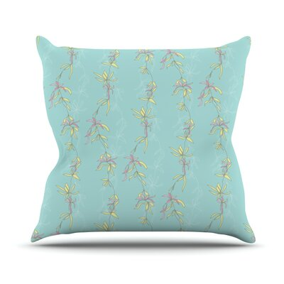 Falling Florals Outdoor Throw Pillow