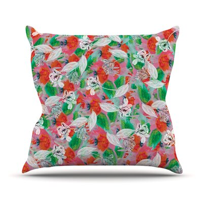 Flying Tulips Outdoor Throw Pillow