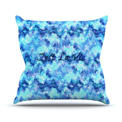 Cest La Vie Revisited Outdoor Throw Pillow