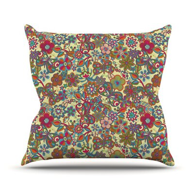 My Butterflies and Flowers Outdoor Throw Pillow