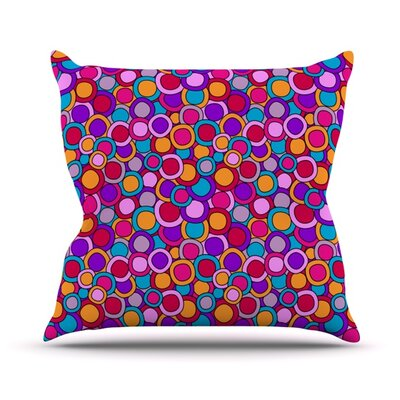 My Colourful Circles Outdoor Throw Pillow